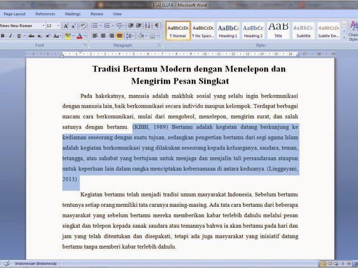Cara Membuat Essay yang Baik dan Benar